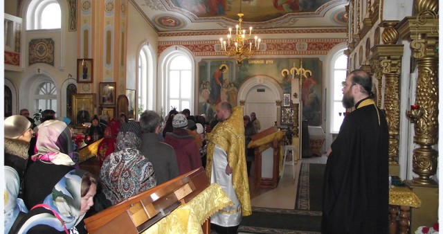 Миссионерская Литургия в храме Всех Святых г. Междуреченска