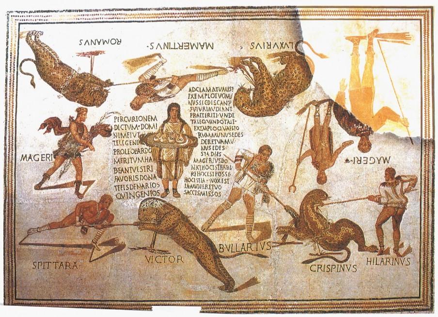 Цветн. илл. V. Кровавые зрелища в амфитеатре, против которых проповедовали отцы Церкви