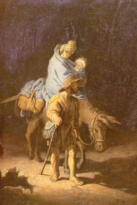 Рис. 7. Рембрандт. Бегство в Египет