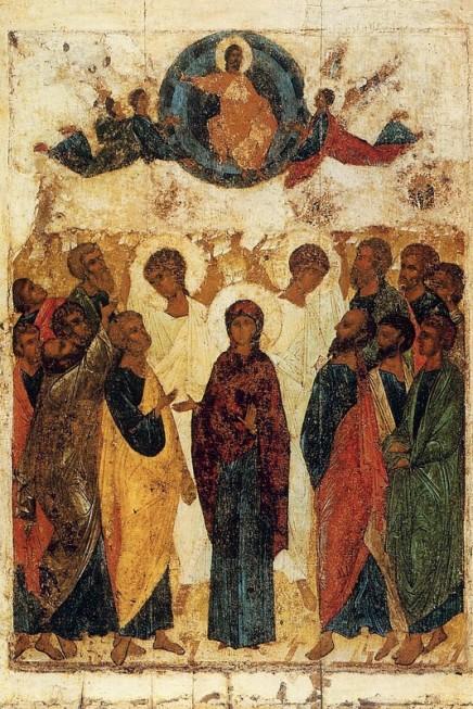 Рис. 11. Рублев. Икона Вознесения