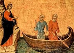 Дуччо ди Буонинсенья. Призвание апостолов Петра и Андрея, 1308-13.