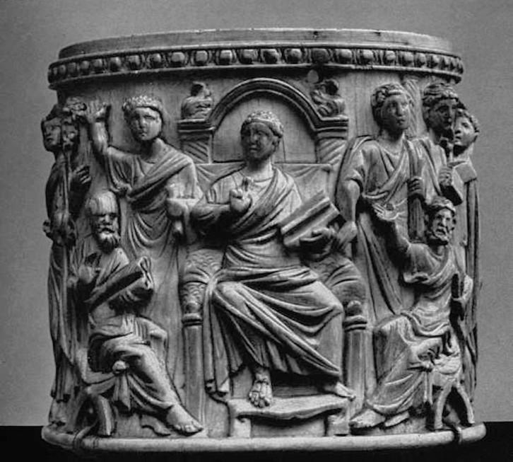 Рис. 5. Христос Учитель, окруженный апостолами
