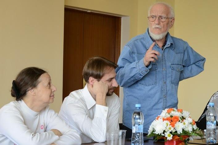 Слева направо: Людмила Комиссарова, Кирилл Мозгов, Юлий Халфин