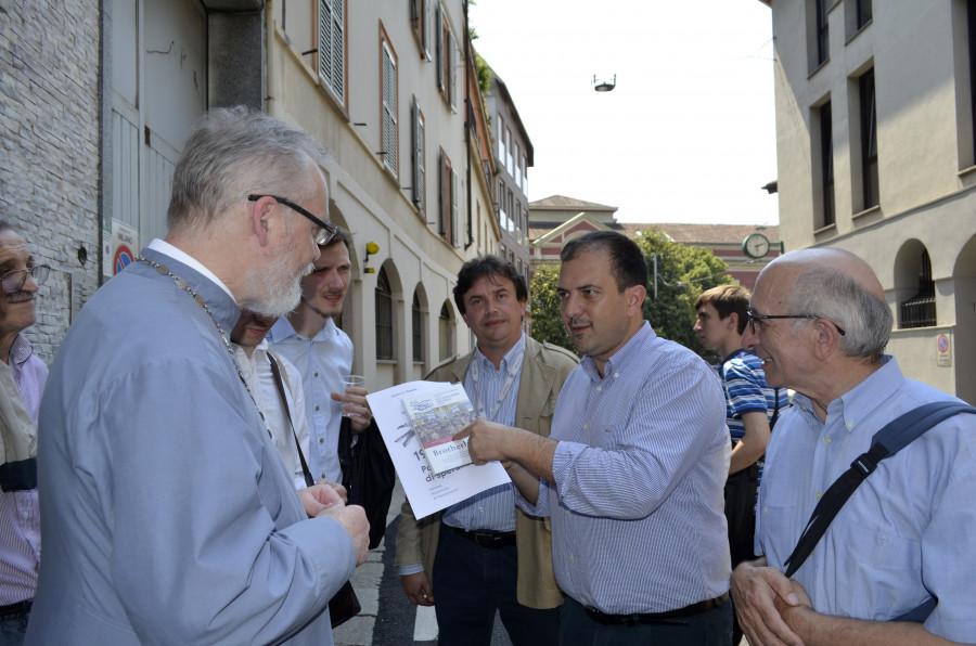 Встреча с представителями АКЛИ. В центре – Паоло Петракка, президент АКЛИ провинции Милана