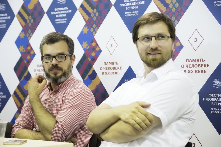 Михаил Мельниченко, автор проекта «Прожито»; Андрей Васенев, главный редактор медиапроекта «Стол»