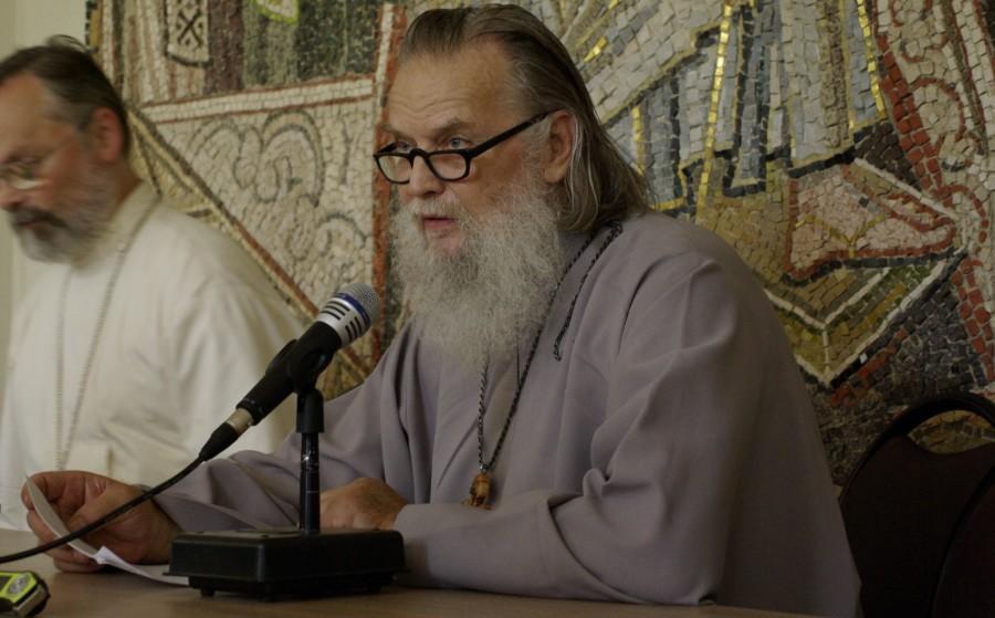 Протоиерей Павел Адельгейм на Преображенском соборе. 2008 г.