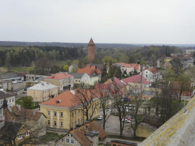 На смотровой площадке колокольни церкви св. Георгия