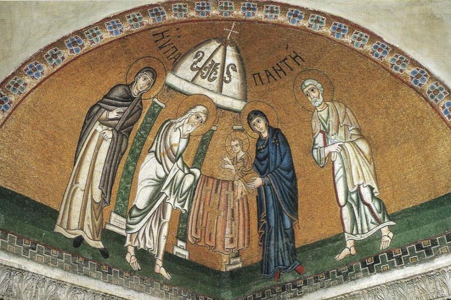 Сретение Господне. XI в. Греция. Фокида, монастырь Осиос Лукас