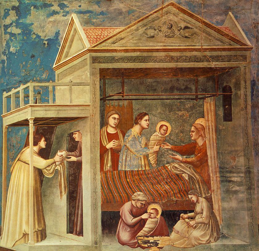 Рождество Богородицы. Фреска Джотто