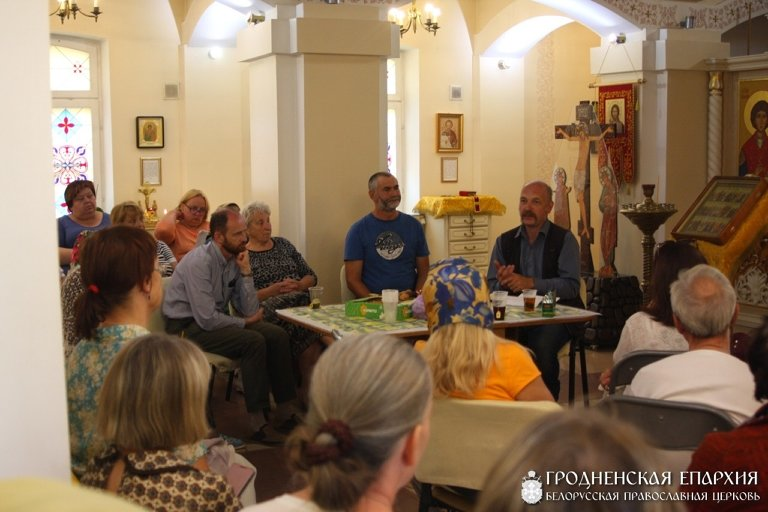 На приходе храма святителя Луки прошла встреча с членами Преображенского братства города Гомеля. Август 2019 г. Фото: www.orthos.org