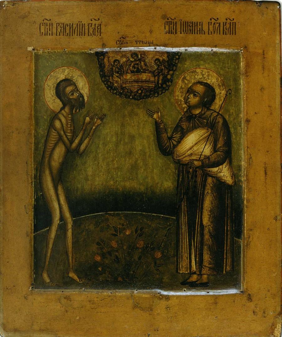 Василий Блаженный и Иоанн Московский