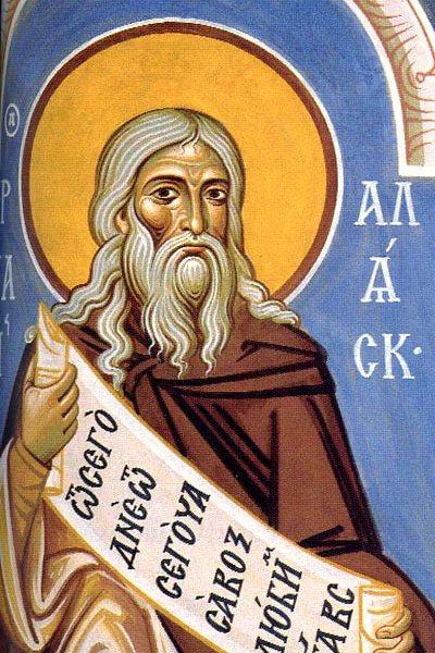 Преп. Герман Аляскинский. Роспись трапезной Ново-Валаамского монастыря