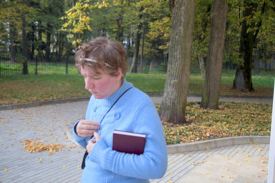 Оля после молитвы