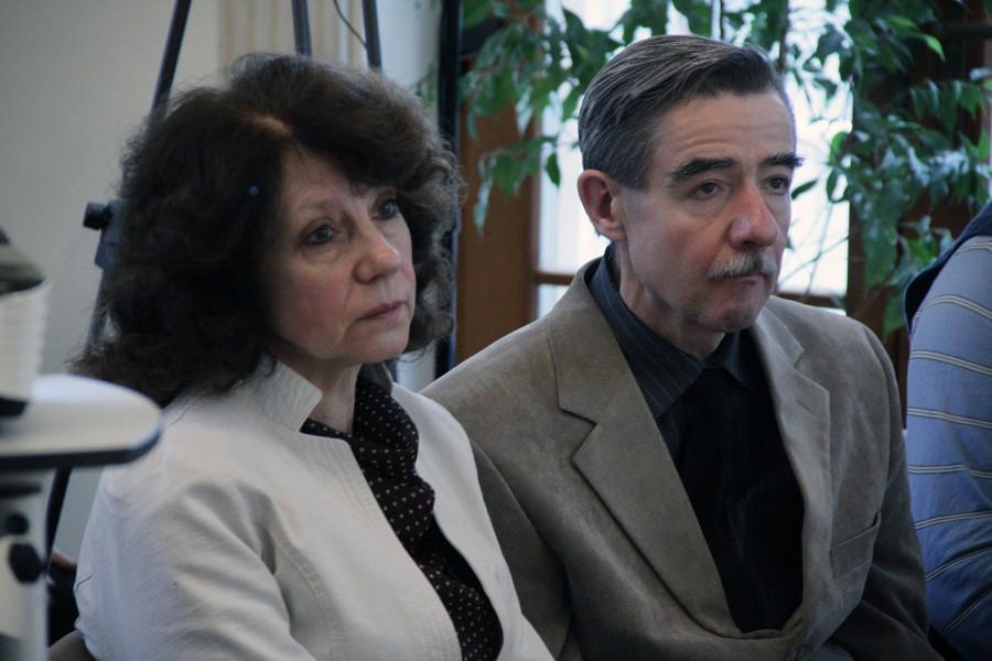 Главный хранитель Дома приемов МИД России Александр Быстров с супругой Мариной