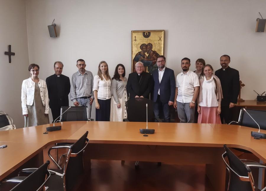 На приёме в Папском совете по содействию христианскому единству