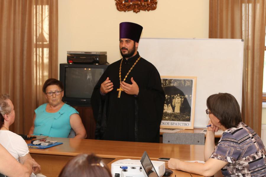 Священник Анатолий Топал на презентации фильма «Александро-Невское братство»