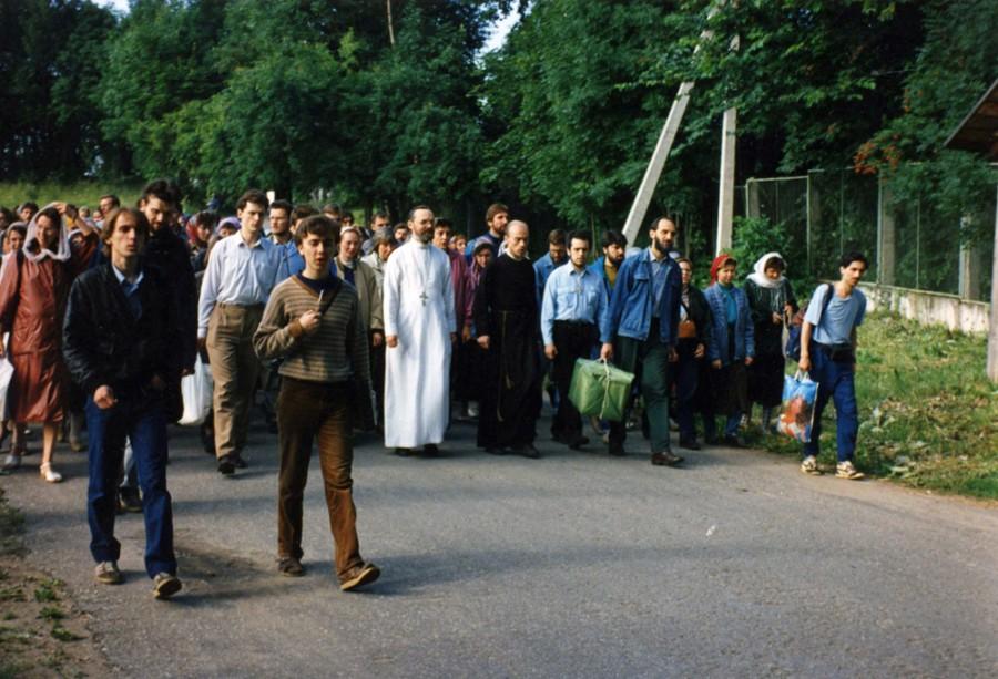 Первое паломничество Преображенского братства. Псков, июль 1995 года