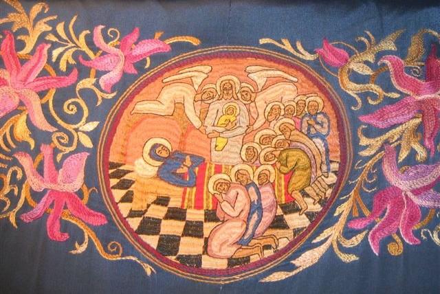 Успение. Вышивка  на священническом облачении