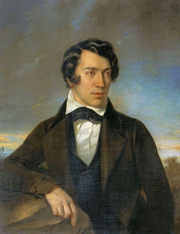 Алексей Степанович Хомяков. Автопортрет. 1842
