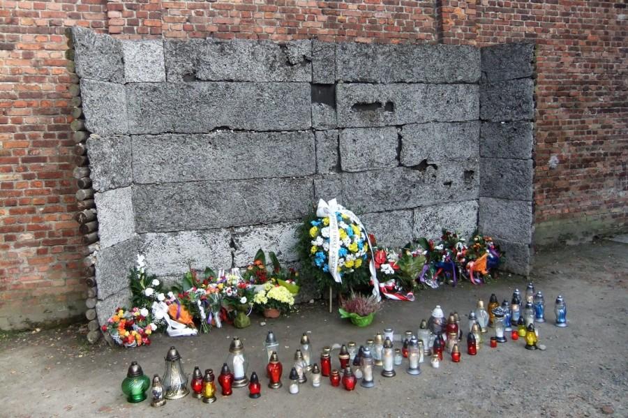 Расстрельная стена в Аушвице