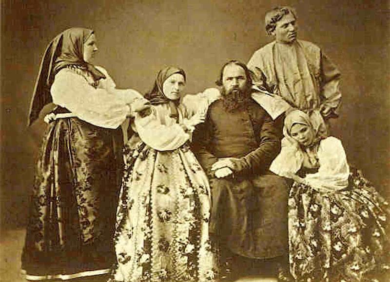 Фото семьи, конец XIX в.