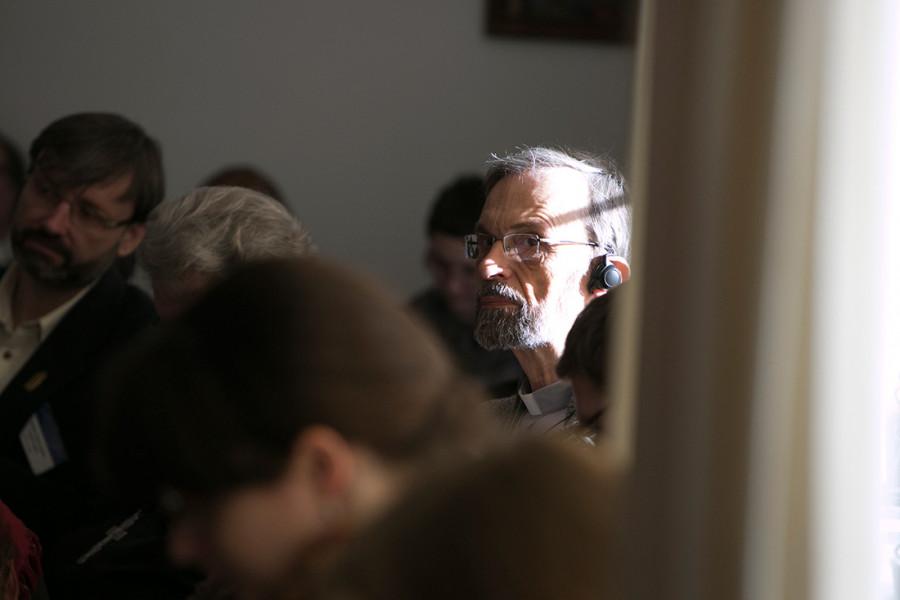 Священник Манфред Дезелерс, доктор теологии, сотрудник Центра «Диалога и Молитвы» в Освенциме (Польша, Краков)