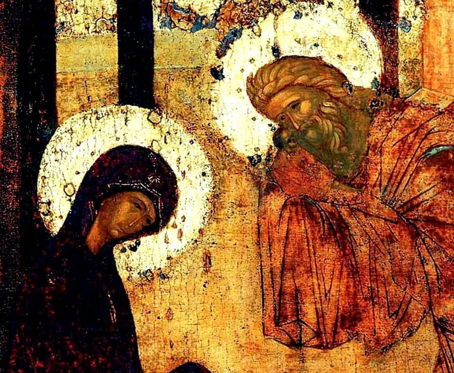 Сретение Господне. Мастерская прп. Андрея Рублёва (1425–1427 гг., Троицкий собор Троице-Сергиевой лавры