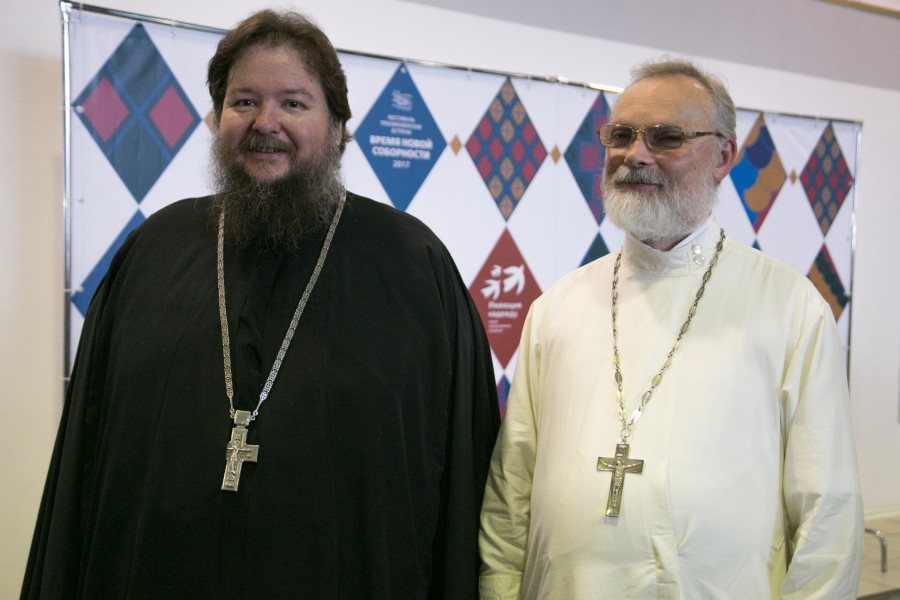 Abbot Serapion (Mitko), First Deputy Chairman of the Synodal Mission Department; Fr Georgy Kochetkov, Spiritual Father of the Transfiguration Brotherhood