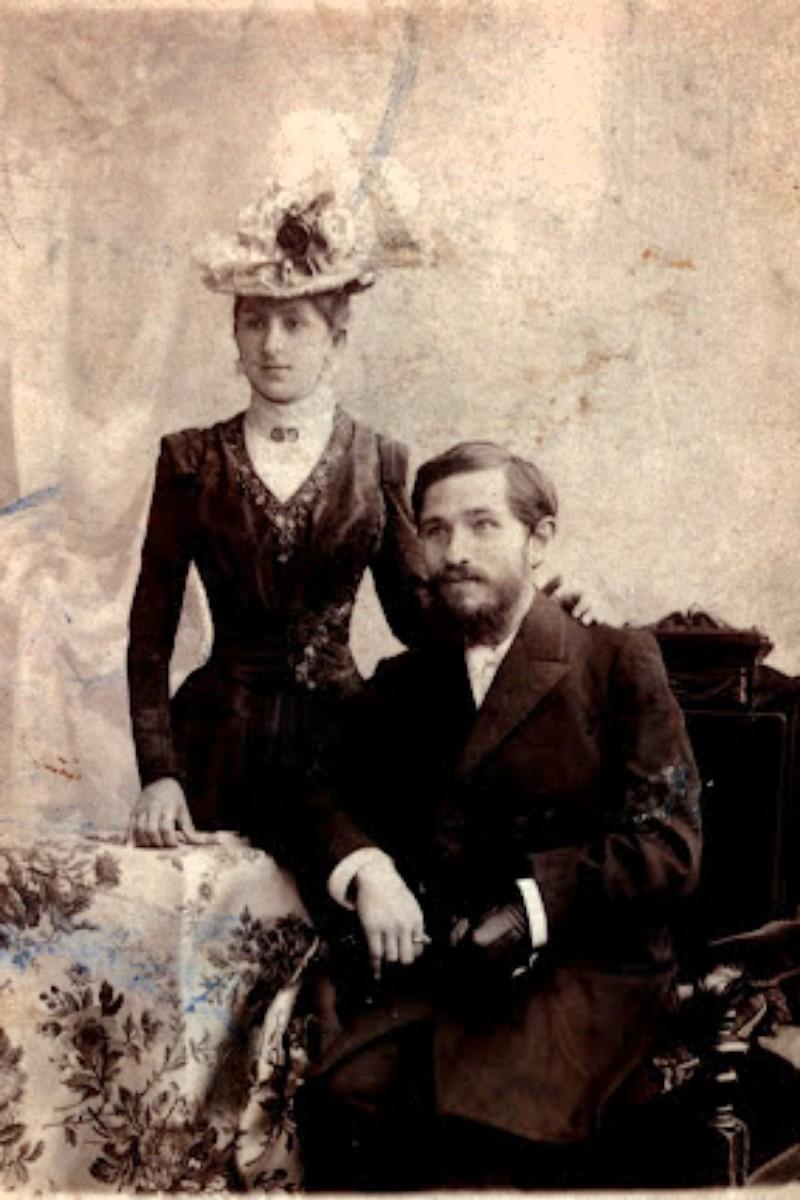 Александр Глаголев с супругой. 1890-е годы