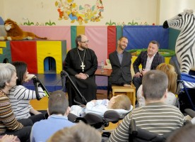 Известный общественный деятель Ник Вуйчич посетил Санкт-Петербургский детский хоспис