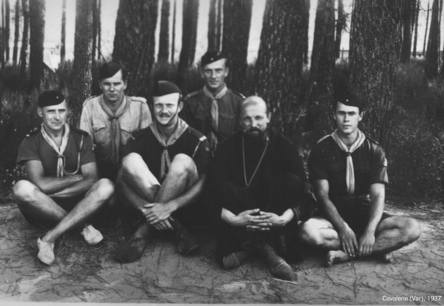 Андрей Блум (справа) в качестве вожатого в летнем лагере РСХД. 1937. Из архива Фонда «Духовное наследие митрополита Антония Сурожского»