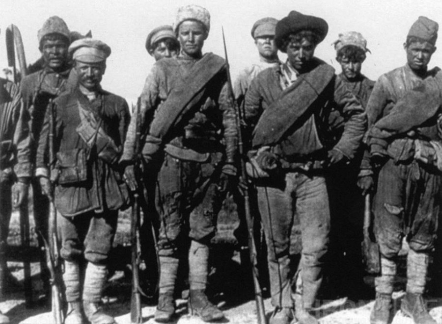 Солдаты Сибирской армии. 1919 г.