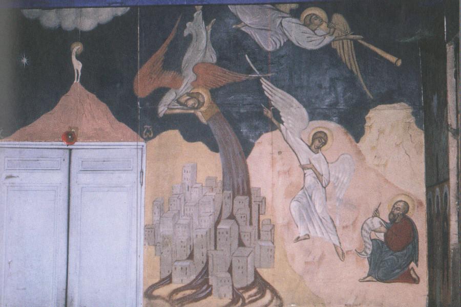 Апокалипсис, деталь. Явление ангела апостолу Иоанну Богослову. Нач. 1930-х гг.