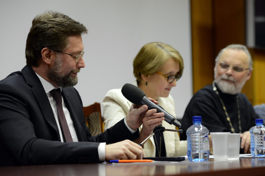 Дмитрий Гасак, Лариса Мусина, священник Георгий Кочетковв