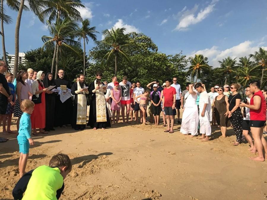 Освящение океана на праздник Крещения в Сингапуре