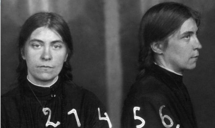 Евгения Христиановна Миллер. Тюремное фото, 1929
