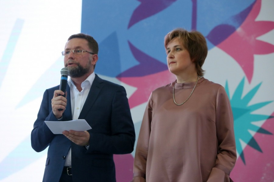 Dmitry Gasak, Chairman of the Transfiguration Brotherhood; Yulia Balakshina, Academy Secretary of SFI