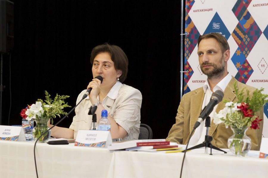 Анна Алиева, старший преподаватель кафедры религиоведения СФИ; Кирилл Мозгов, руководитель издательства и старший преподаватель СФИ