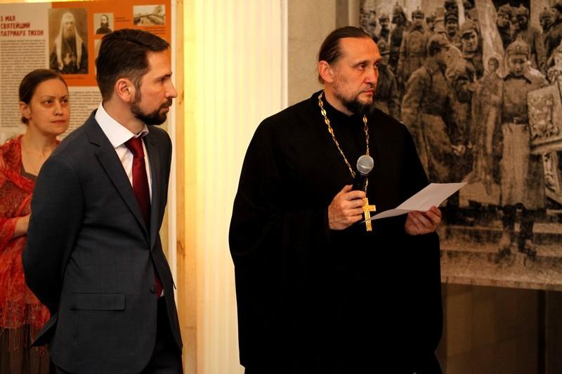Президент КПФ «Преображение» Алексей Наумов, руководитель просветительского отдела епархии протоиерей Сергий Стаценко