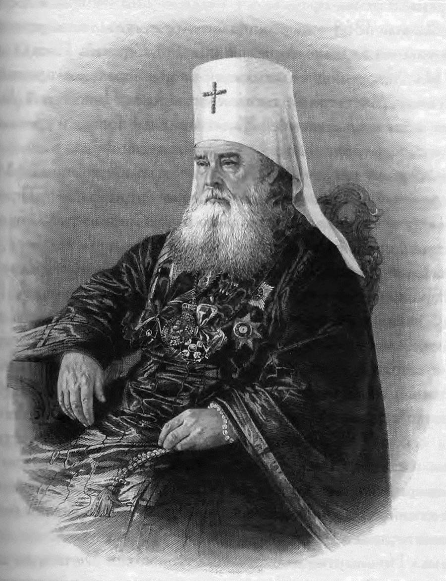 Свт. Иннокентий Московский. Гравюра. Россия, XIX в.