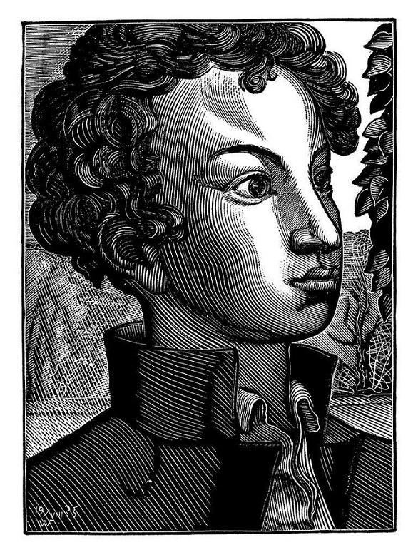 Пушкин-лицеист. 1935. Ксилография