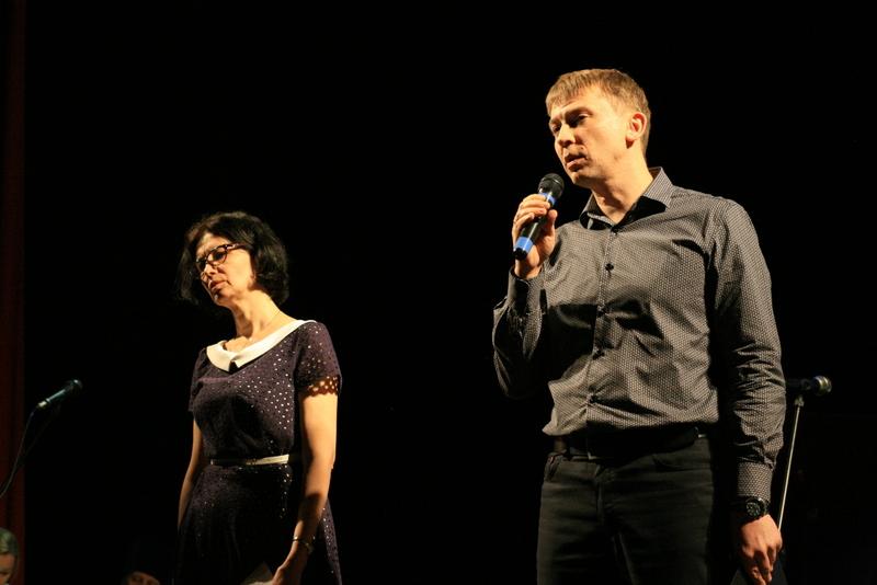 Ведущие концерта Нина-Инна Ткаченко и Алексей Евстигнеев