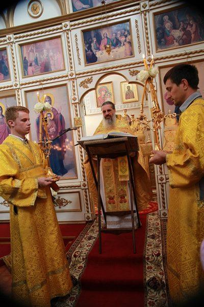 Божественная литургия в день открытия конференции