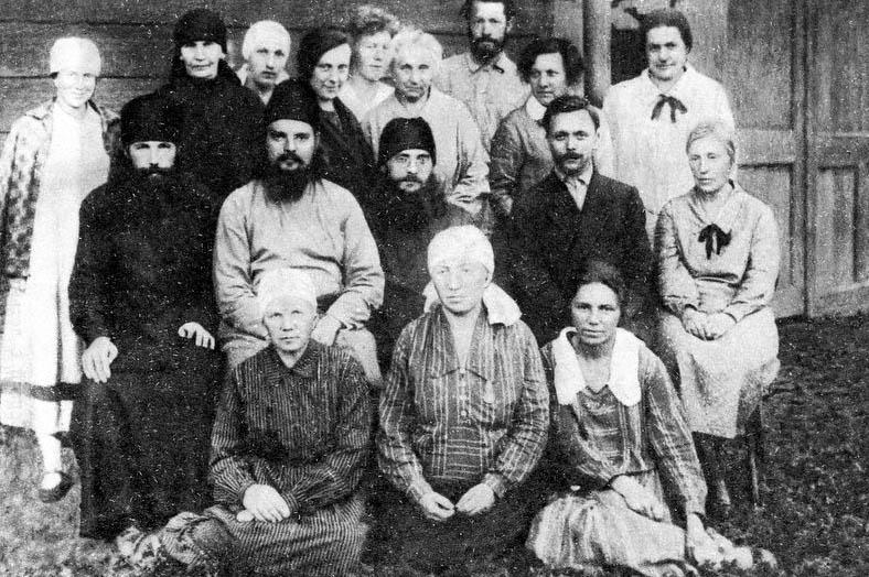 Священномученик Сергий Мечёв с членами «маросейской» общины