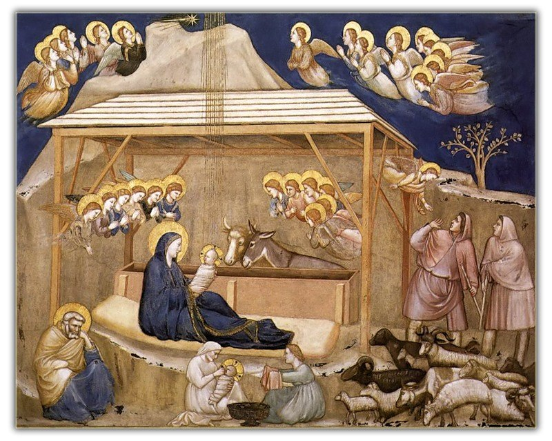 Джотто ди Бондоне, «Рождество Христово»