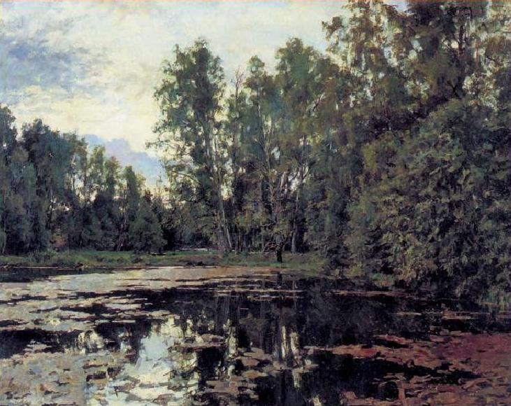 «Заросший пруд. Домотканово». В.А. Серов, 1888 г.
