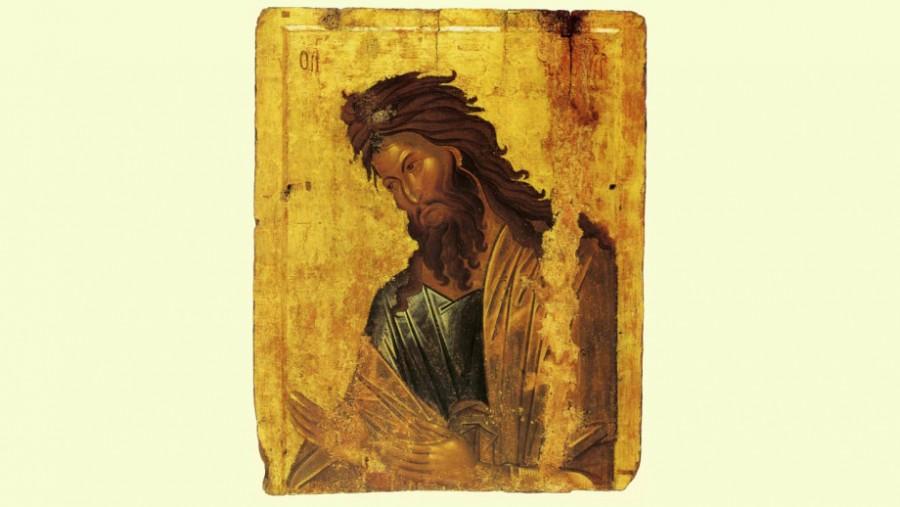 Иоанн Креститель (византийская икона, XIV век)