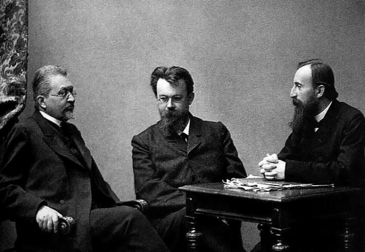И. Петрункевич, В. Вернадский, Д. Шаховской. Фото из архива Е.М. Шик