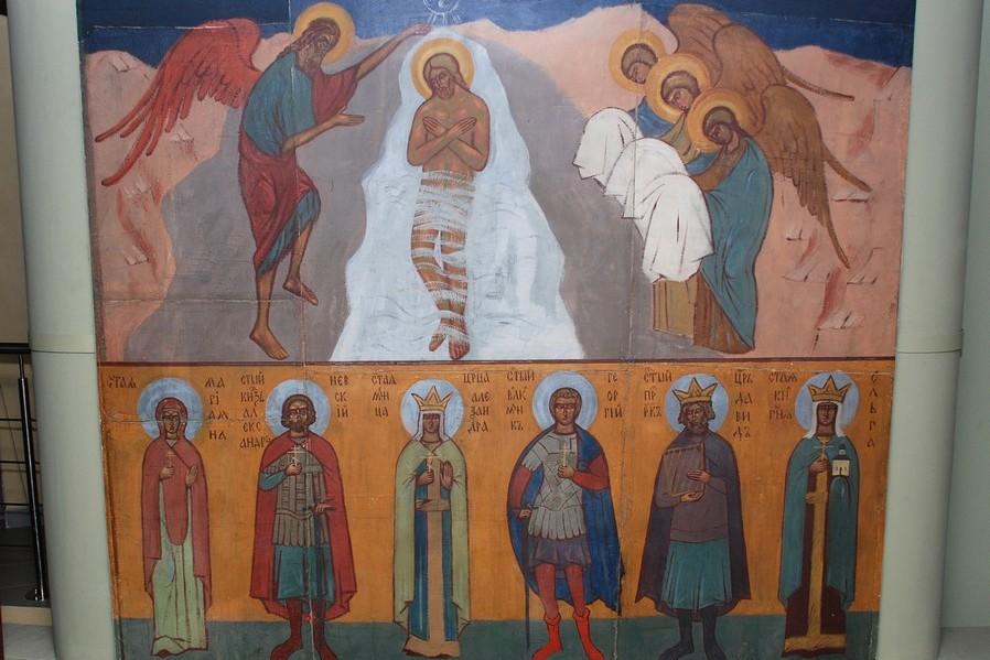 Фреска сестры Иоанны (Рейтлингер) в храме Воскресения Христова в Медоне