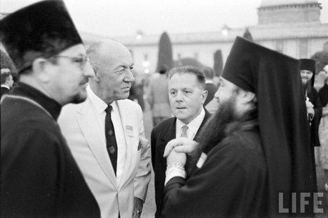 О. Виталий Боровой и митр. Никодим (Ротов) и  на III Ассамблее ВСЦ в Нью-Дели. Декабрь 1961 г.